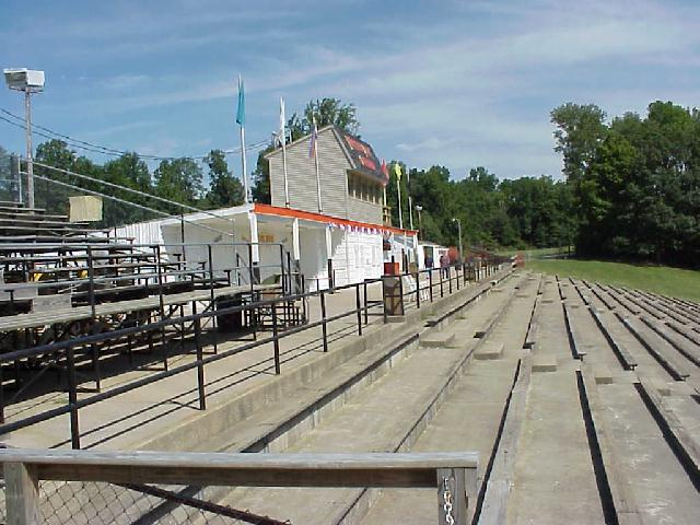 LPS18, View of top of grandstands at Lincoln Park Speedway.