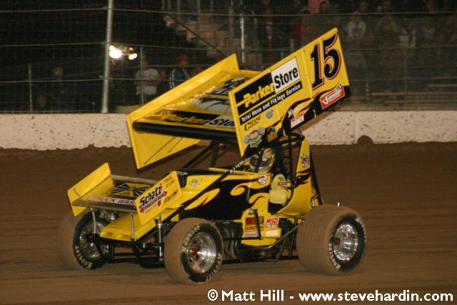 World of outlaws at the dirt track at las vegas motor speedway